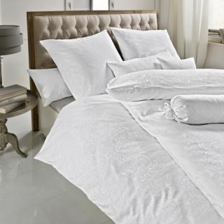 Lenjerie de pat alb  Damasc- Scarlett